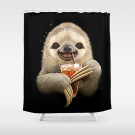 SLOTH & SOFT DRINK Shower Curtain