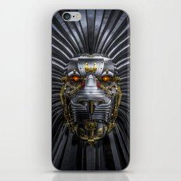 Hear Me Roar / 3D render of serious metallic robot lion iPhone Skin