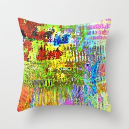 Yellow Lines S41 Throw Pillow