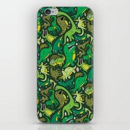 Dino Pattern iPhone Skin