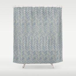Freeform Arrows in navy Shower Curtain