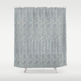 Freeform Arrows in navy Shower Curtain