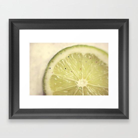 Sour Sparkles Framed Art Print