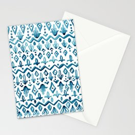 Mya Watercolor - White Stationery Cards