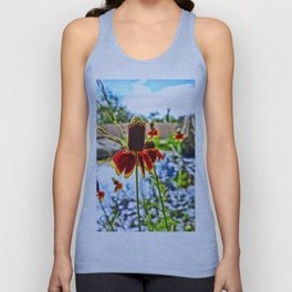 Cone Flower and Pond Unisex Tank Top