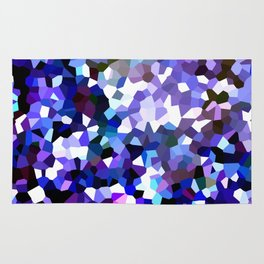 Ultra Violet Purple Blue Gems Rug