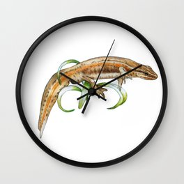 Frolicking Newt Wall Clock