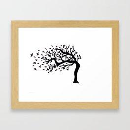 Tree Birds x2 Framed Art Print