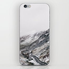 Honister Pass covered in snow. Cumbria, UK. iPhone Skin