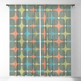 Mid Century Modern Star Pattern 934 Sheer Curtain