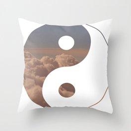 Yin Yang Clouds Throw Pillow
