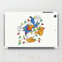 donald duck iPad Cases featuring Funny Angry Donald Duck by Yuliya L