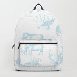 Woodland Critters in Winter Blue Backpack