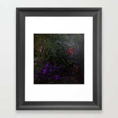 Southern Constellations (Red) Framed Art Print