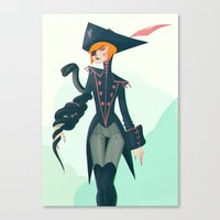 pirate Canvas Prints featuring Pirate by Lunacy