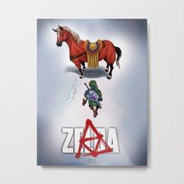 Zelda/Akira - DARK Metal Print