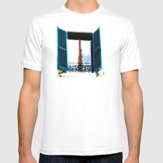 Window to the Present MEDIUM Mens Fitted Tee White