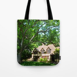 Haus with Tree Tote Bag