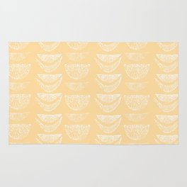 Textured Crescents in Butter Yellow Rug