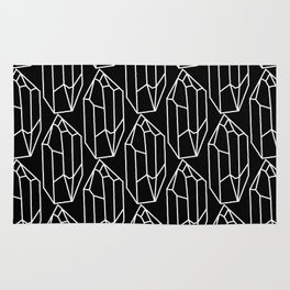 Black Crystal Pattern Rug