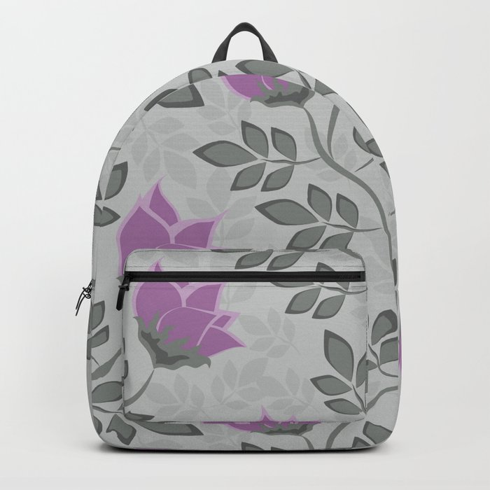 Liana purple flowers . Backpack
