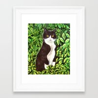 kitty Framed Art Prints featuring Kitty by gretzky