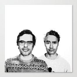 Jemaine and Taika 3 Canvas Print