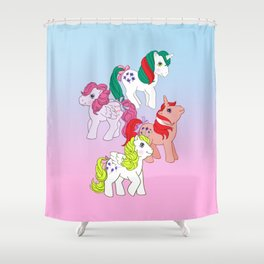 g1 my little pony year 3 unicorn and pegasus Shower Curtain