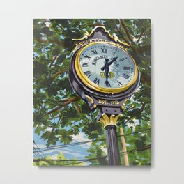 Ellicott City Flood Relief- Clock Metal Print