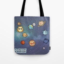 Planetary Blowfish Tote Bag