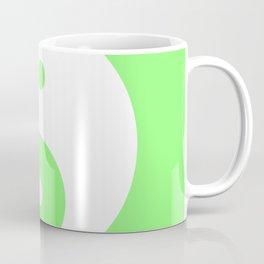 Yin & Yang (White & Light Green) Coffee Mug