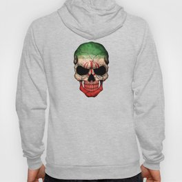 Dark Skull with Flag of Iran Hoody
