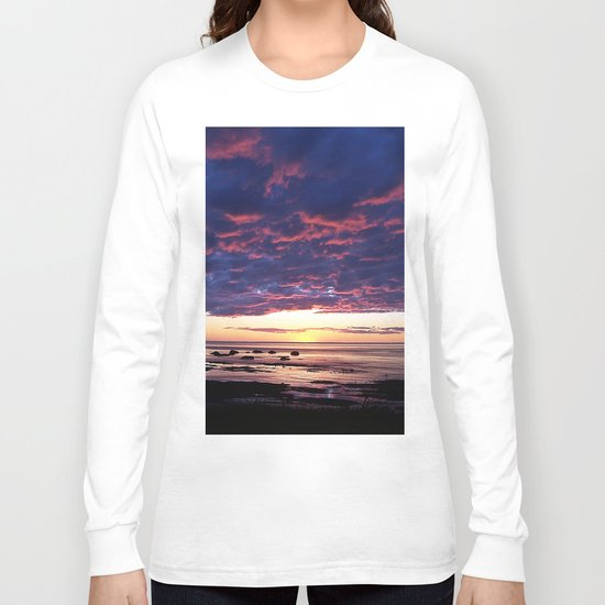 Textured Clouds at Sunset Long Sleeve T-shirt