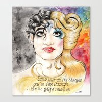 hedwig Canvas Prints featuring Darren/Hedwig by MerrytheCookie