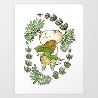 dinosaur Art Prints featuring Dinosaur  by MAKI