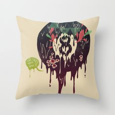Bad Omen Throw Pillow