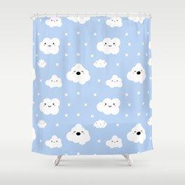 Blue Clouds Shower Curtain