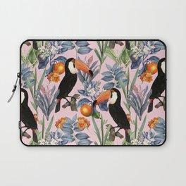Tucan Garden #pattern #illustration Laptop Sleeve