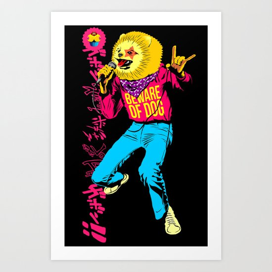 Pomeranian Rock Dogs - Beware Art Print