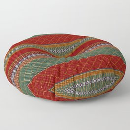 Traditional Romanian embroidery pixel Floor Pillow
