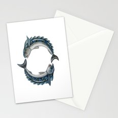 Fish Circle Stationery Cards