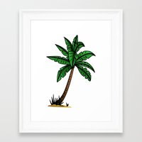 palm tree Framed Art Prints featuring palm tree by Li-Bro