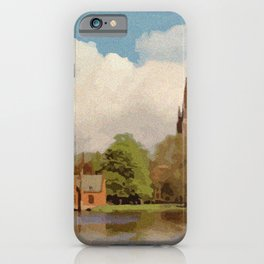 The Lake of Love Bruges art iPhone Case