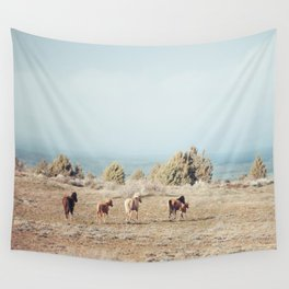 Oregon Wilderness Horses Wall Tapestry