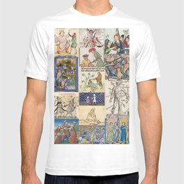 People Getting Stabbed in Medieval Manuscripts T-shirt