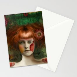 """Daisy Woman (Detail)"" Stationery Cards"