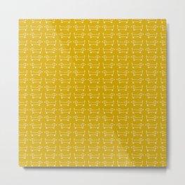 Dachshunds in honey yellow Metal Print