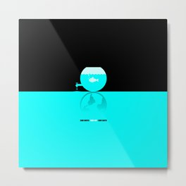 Save Water - Save Life - Save Earth Metal Print