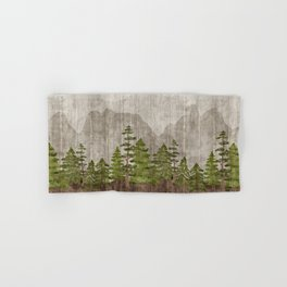 Mountain Range Woodland Forest Hand & Bath Towel