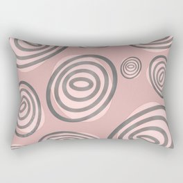Swirls - Mid-Century-Modern Rectangular Pillow